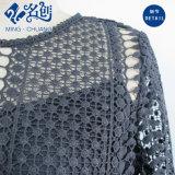 Vestito sottile da modo del merletto della maglia della Posteriore-Chiusura lampo nera di prospettiva