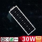 réverbère 30W extérieur solaire tout dans un avec le détecteur de PIR