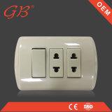 socket de pared americano de 2gang 1way y 1 enchufe de socket de la cuadrilla