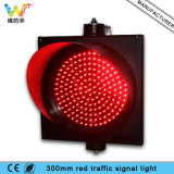 Indicatore luminoso poco costoso del segnale stradale di colore rosso di funzione 300mm di prezzi uno