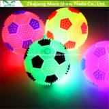 """2.5 """" esferas de salto sensoriais de piscamento da novidade Spiky do Light-up do futebol do Hedgehog"""