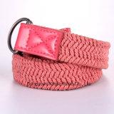 ポリエステル麻ひものギフトのための編む二重リングのバックルの女性ベルト