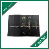 Caixa de papel do presente do cartão de Stampping da folha de ouro para o empacotamento do vinho