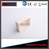 Crisol de cerámica resistente de alta temperatura del alúmina de la pureza elevada