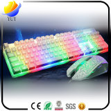 Rétroéclairage en couleur Cache en métal USB Wired Gaming Computer Keyboard