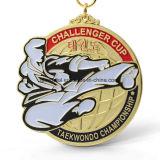 Medaglia su ordinazione del premio di sport del Taekwondo del rame dell'argento dell'oro