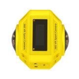 Câmera subaquática dupla da lente 4k 360d com WiFi interno
