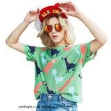 Nueva camiseta del algodón de la impresión de la historieta de la manera de 2017 veranos