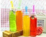 Bottiglie di vetro della spremuta del vetro da bottiglia della bevanda con il coperchio
