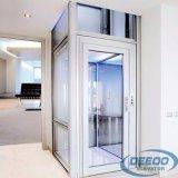 Elevación residencial del pasajero del pequeño elevador casero eléctrico de cristal