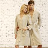 Hommes 100% de coton et peignoir mou superbe de chemise de femmes long