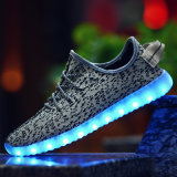 De LEIDENE van de Schoenen van de tennisschoen Zachte LEIDENE van Flyknit Schoenen kunnen Vrije Aangepaste LEIDENE van het Embleem Lichte Schoenen zijn