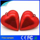 أحمر قلب شكل بلاستيكيّة [أوسب] برق إدارة وحدة دفع لأنّ هبة [أوسب]