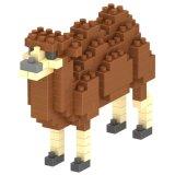 les blocs animaux de série de nécessaire du bloc 14889126-Micro ont placé le jouet éducatif créateur 150PCS - chameau de DIY