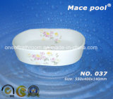 Горячий овальный керамический шар тазика раковины искусствоа тазика (037)