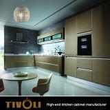 최고 부엌 아이디어 Tivo-0050V가 대리석을%s 가진 현대 높은 광택 있는 래커 부엌 찬장 가구에 의하여 꼭대기에 오른다