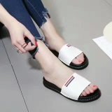 여자 단화 편평한 가죽 신발 고무 바닥