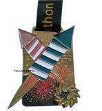 Kundenspezifische Metallmedaille für Triathlon, Westislip, Sandblast