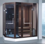 sauna combinada vapor da forma do diamante de 1900mm com chuveiro (AT-8861A)