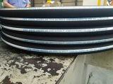 Boyau en caoutchouc hydraulique extérieur enveloppé de la spirale DIN En856 4sh de fil