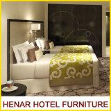 Conjunto gris negro de los muebles del dormitorio del hotel del cuero del Faux del marco de madera
