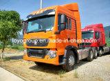 Sinotruk T5g 6X4の索引車340HPのトラクターのトラック