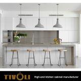 De zwarte Houten Keukenkasten van /White van de Beste Fabrikant tivo-0198h van de Keuken