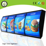 메뉴 널 광고를 위한 LED 호리호리한 황급한 프레임 가벼운 상자