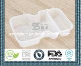 950ml engrossam recipiente de alimento plástico descartável preto/branco com bandeja interna