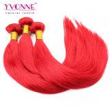 新しい到着カラー赤いペルーの人間の毛髪の拡張