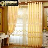 La ventana del amarillo de la alta calidad de la tela de las cortinas del descuento cubre