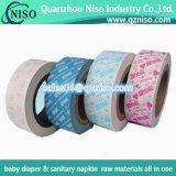 Papel da liberação da fita adesiva, papel impresso da liberação para guardanapo sanitários/distribuidor,