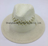 El sombrero de paja de la manera con la cinta y ahueca hacer (Sh006)