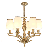 Nuovo lampadario a bracci del ferro di disegno con il montaggio di vetro di illuminazione dello schermo per la casa (SL2276-8)