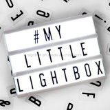 Caixa leve leve cinemático do indicador A3 A4 das letras da caixa DIY do diodo emissor de luz