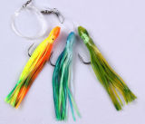 Le doux de palan de pêche de Hy leurre les équipements multi colorés de forme d'équipements de Sabiki pêchant des attraits