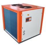 промышленным охлаженные воздухом охладители воды конденсатора ребристой трубы 7.8kw с компрессором переченя для бака заквашивания пива