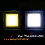 Instrumententafel-Leuchte des LED-Downlight 12W quadratische Glas-LED