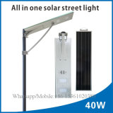 Luz de rua solar Integrated do competidor do diodo emissor de luz do preço 40W com luz não ofuscante