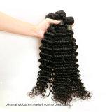 7A cabelo humano de Remy do Virgin do brasileiro da classe 100% que tece a onda profunda