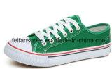 最新のデザインカスタマイズされるを用いる学校によって加硫させるズック靴(FF1026-01)