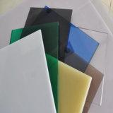 Excellente feuille givrée claire légère colorée de solide de polycarbonate