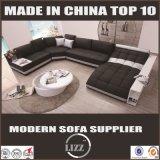 Grande sofà del cuoio del salone di figura di formato U