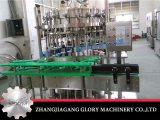 Автоматическая стеклянная бутылка с машиной пива крышки кроны заполняя покрывая