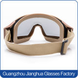 Óculos de proteção táticos das forças armadas dos vidros do PC de Transparen dos vidros do olho do tiro do policarbonato