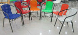 Garten entspannen sich Plastikarm-Stuhl mit dem Metallbein (LL-0024)