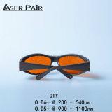 Cer Gty Lasersicherheits-Gläser für Nd YAG Ktp Laser mit Laser-Instrument der Wellenlänge-1064nm und 532nm Laser-YAG