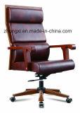 Alta silla de madera ejecutiva posterior de la silla de eslabón giratorio de la silla para la oficina