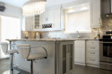 Mobilia bianca elegante della cucina di stile europeo degli armadi da cucina di Ritz