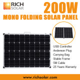 панель солнечных батарей 200W 12V Mono фотовольтайческая складывая для домашней пользы